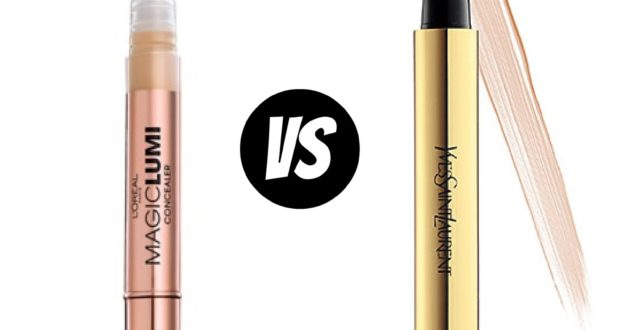 drugstore dupe l'oreal studio secrets magic lumi concealer highlighter versus ysl radiant touch concealer