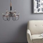 Fredirica 9 Light Copper Chandelier