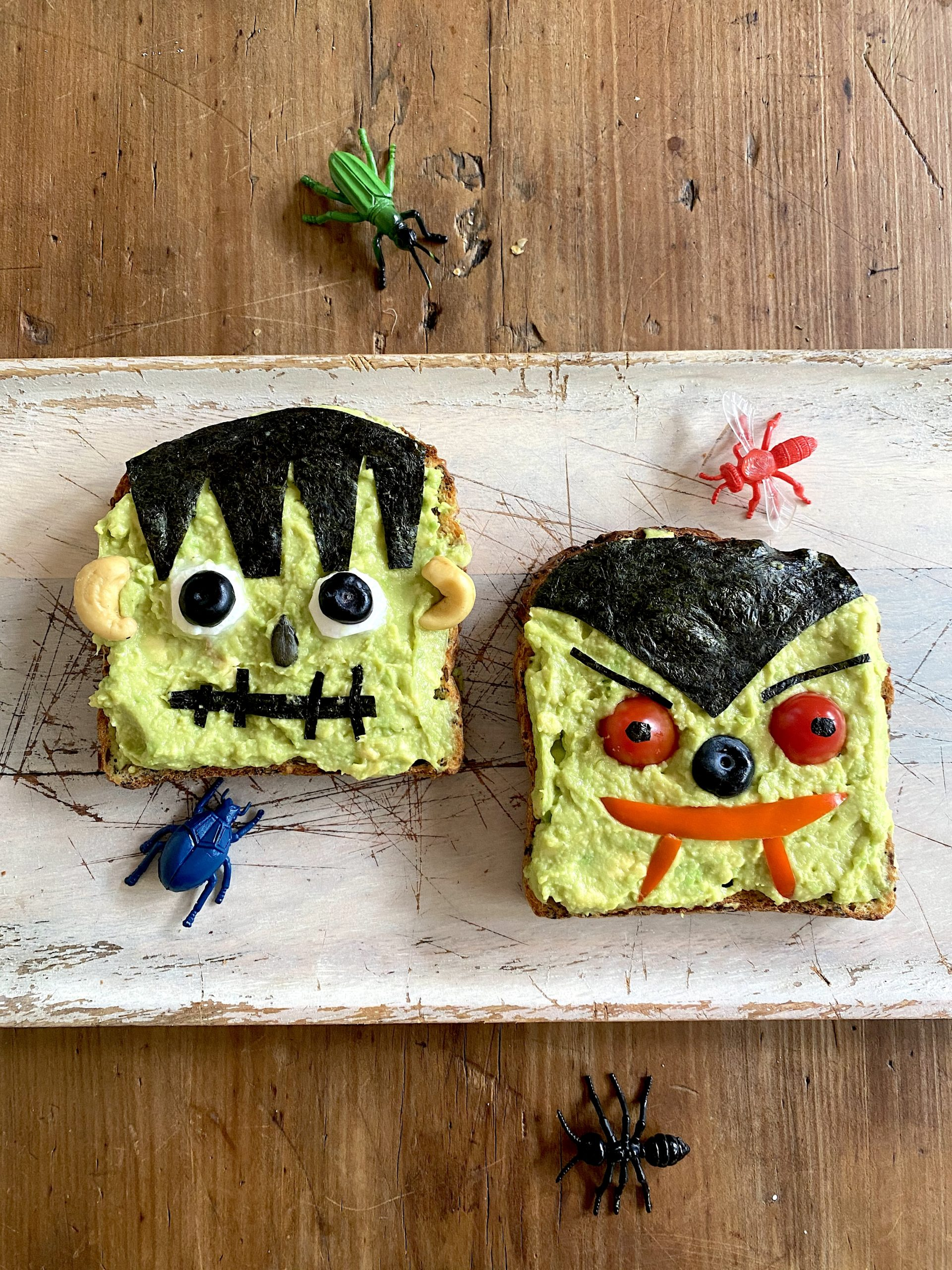 Spooktacular Avocado Toast for Halloween