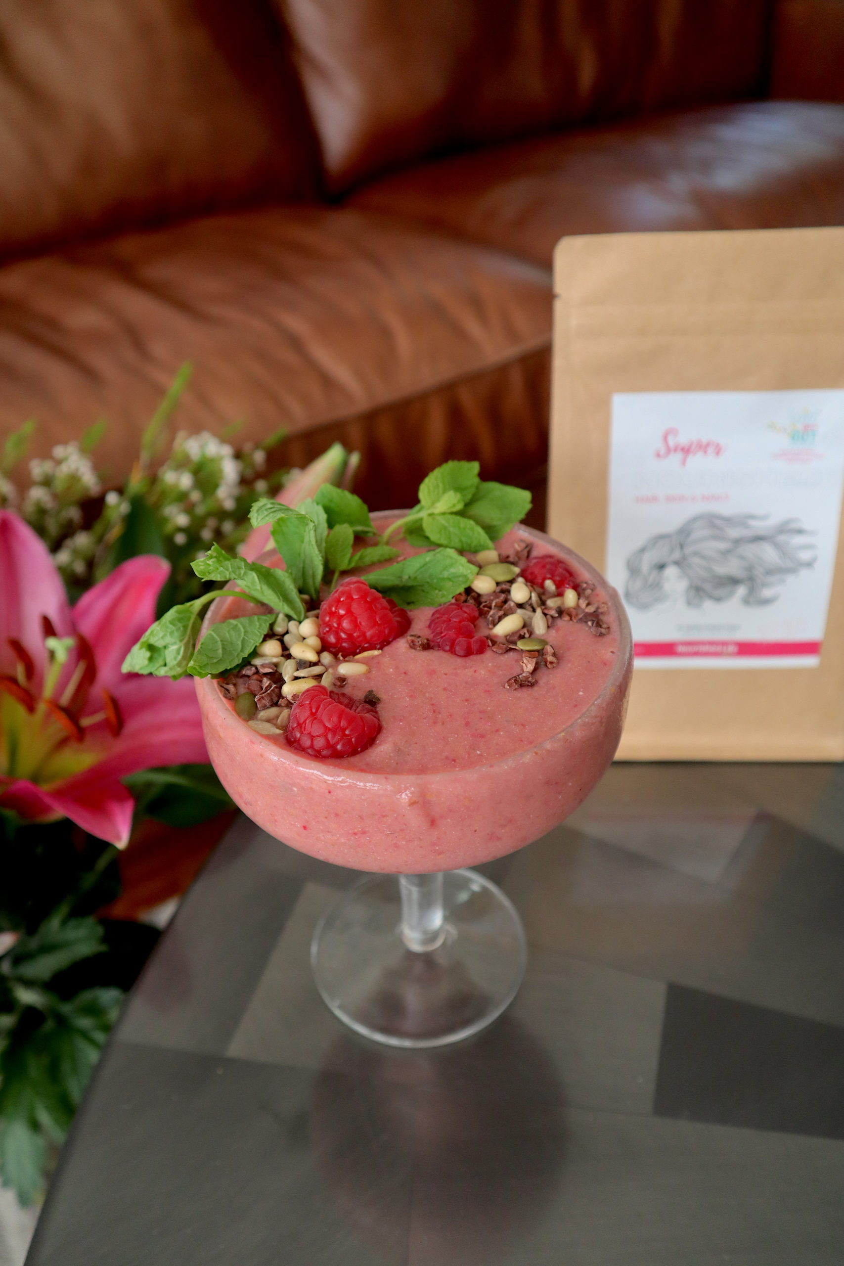 Pretty in Pink Smoothie + Super Nourished Hair Skin and Nails