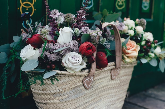flowers in a basket - cleansing for your home