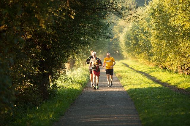 old men running - fitness tips