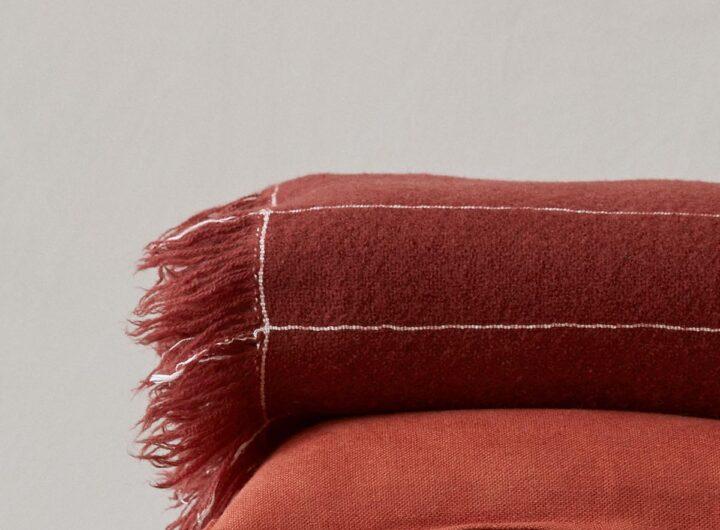 cushion and throw